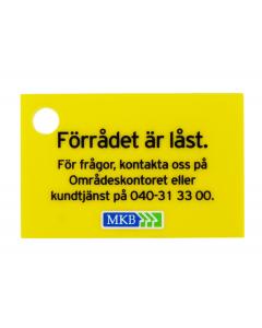 """SKYLT """"Förrådet är låst"""" 5st/fp"""