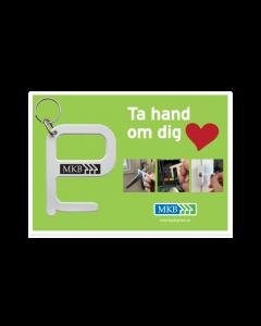 Hygiennyckel på kort, 10-pack
