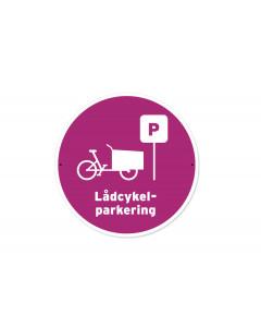 Skylt Lådcykelparkering