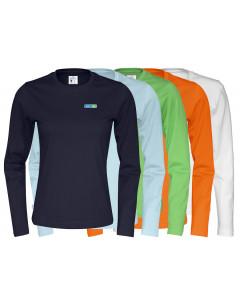 Ekologisk Dam-T-shirt-lång ärm