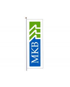 Flagga med MKB logga, 350x110 cm