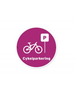 Skylt Cykelparkering 20x20cm