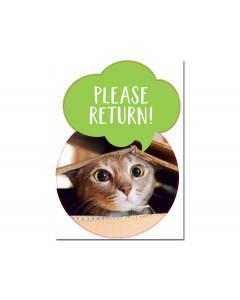 "Skylt ""Please return"""