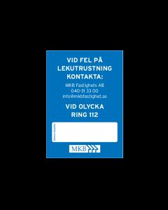 """""""Fel på lekutrustning"""" skylt, 5-pack"""